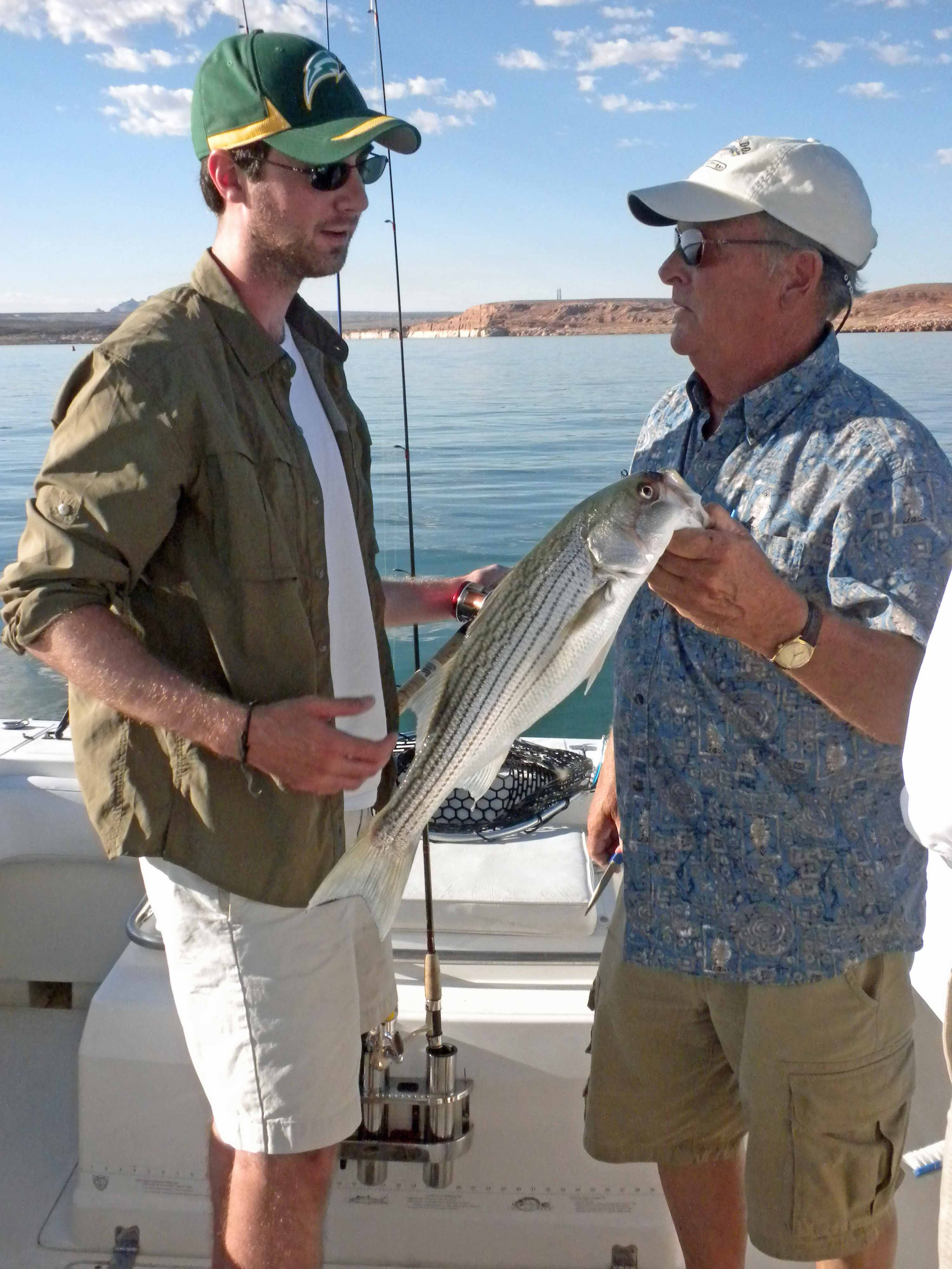 Lake powell photos from our clients who fished 7 15 10 for Lake powell fishing