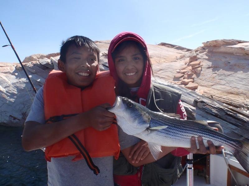 Lake powell fishing report 4 14 13 ambassador guides at for Lake powell fishing