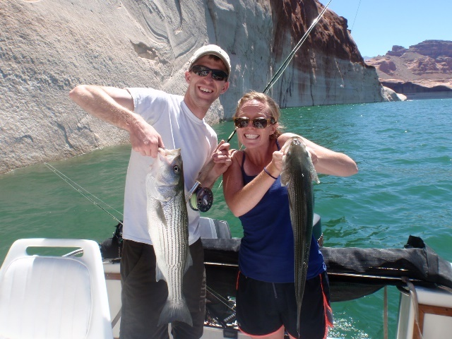 Lake powell fishing report 7 1 13 ambassador guides at for Lake powell fishing