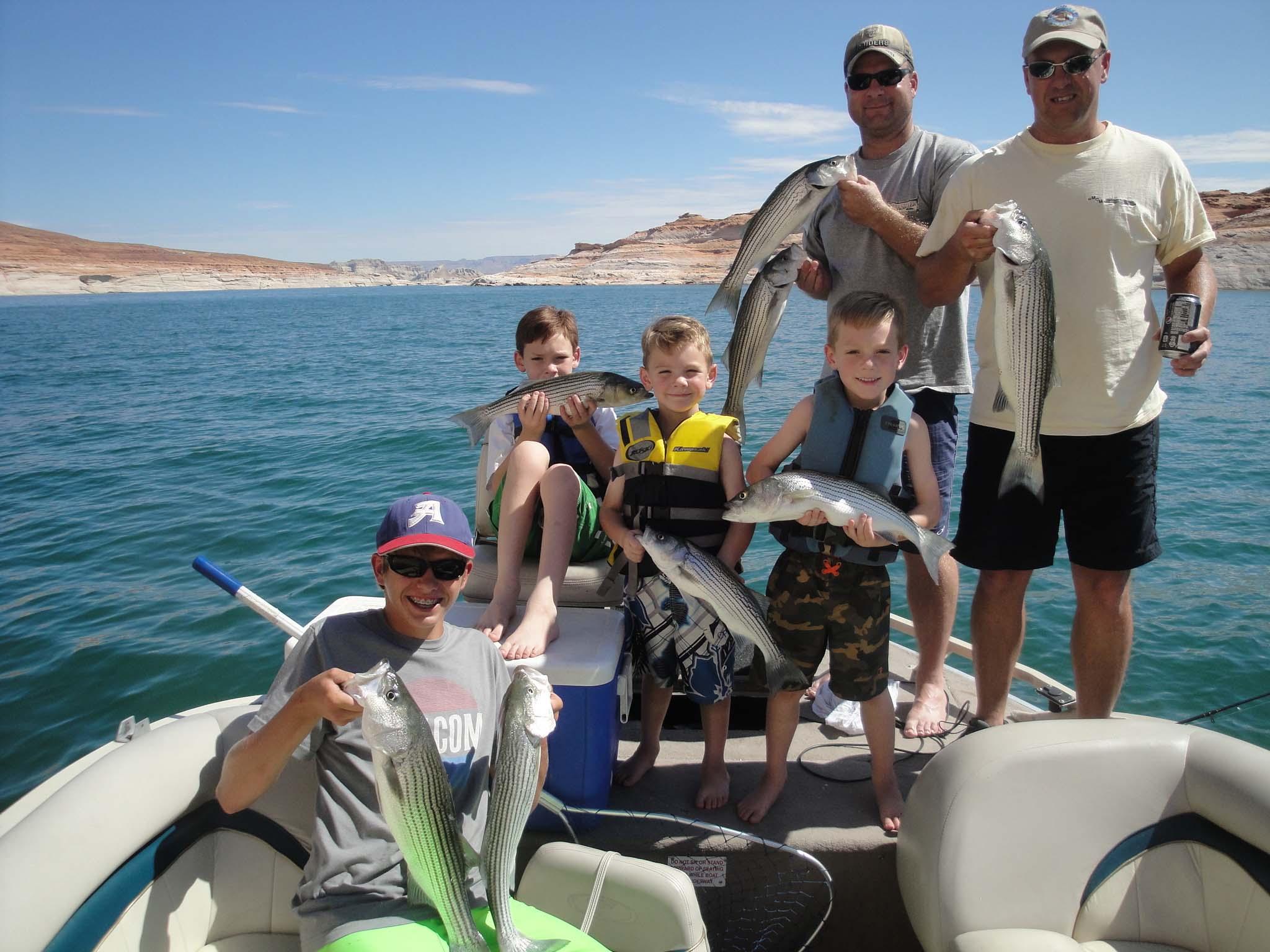 Lake powell fishing report by wayne gustavson 7 23 13 for Lake powell fishing