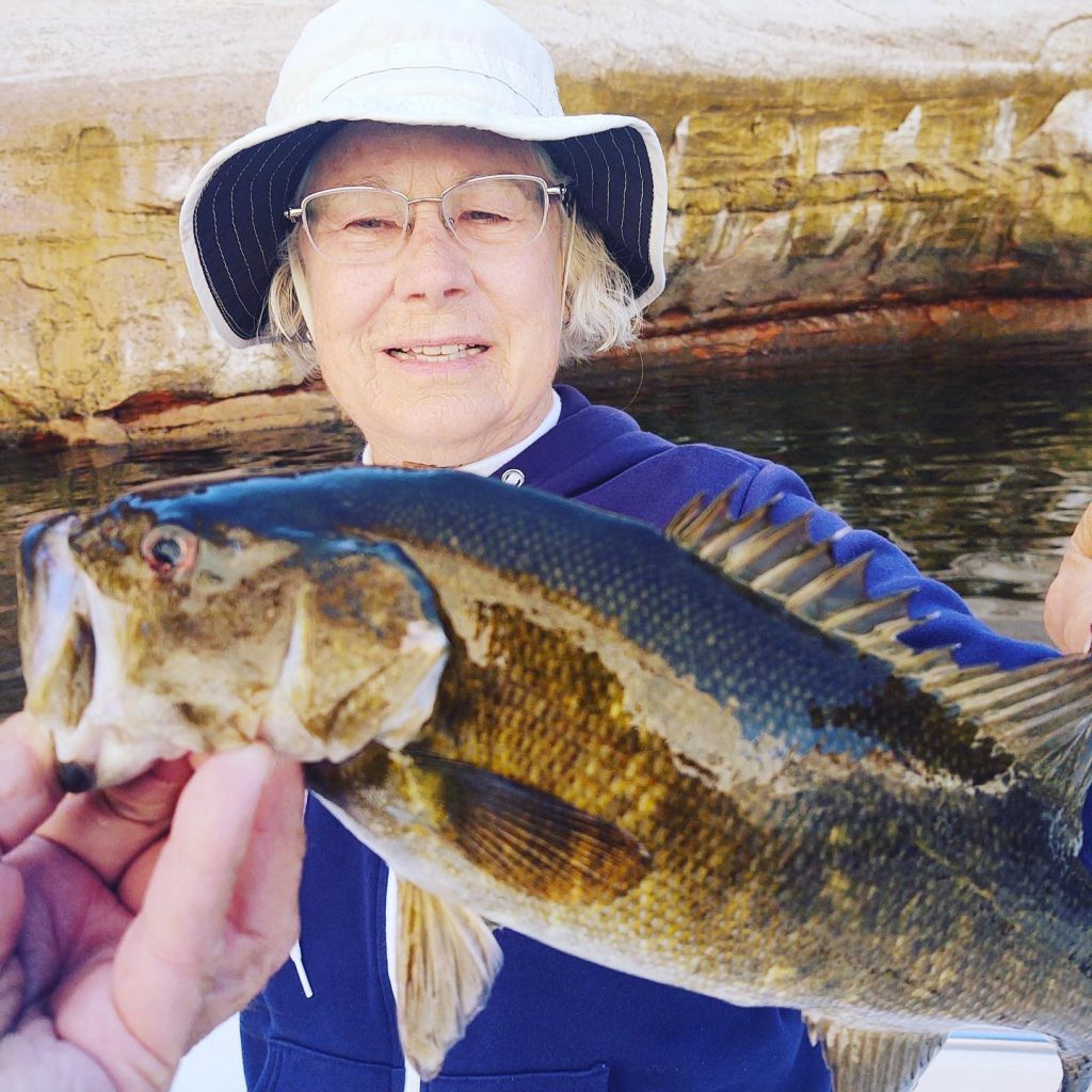 "One of my favorite anglers ""Elizabeth"" from Camp Verde...Nice Smallmouth yesterday"