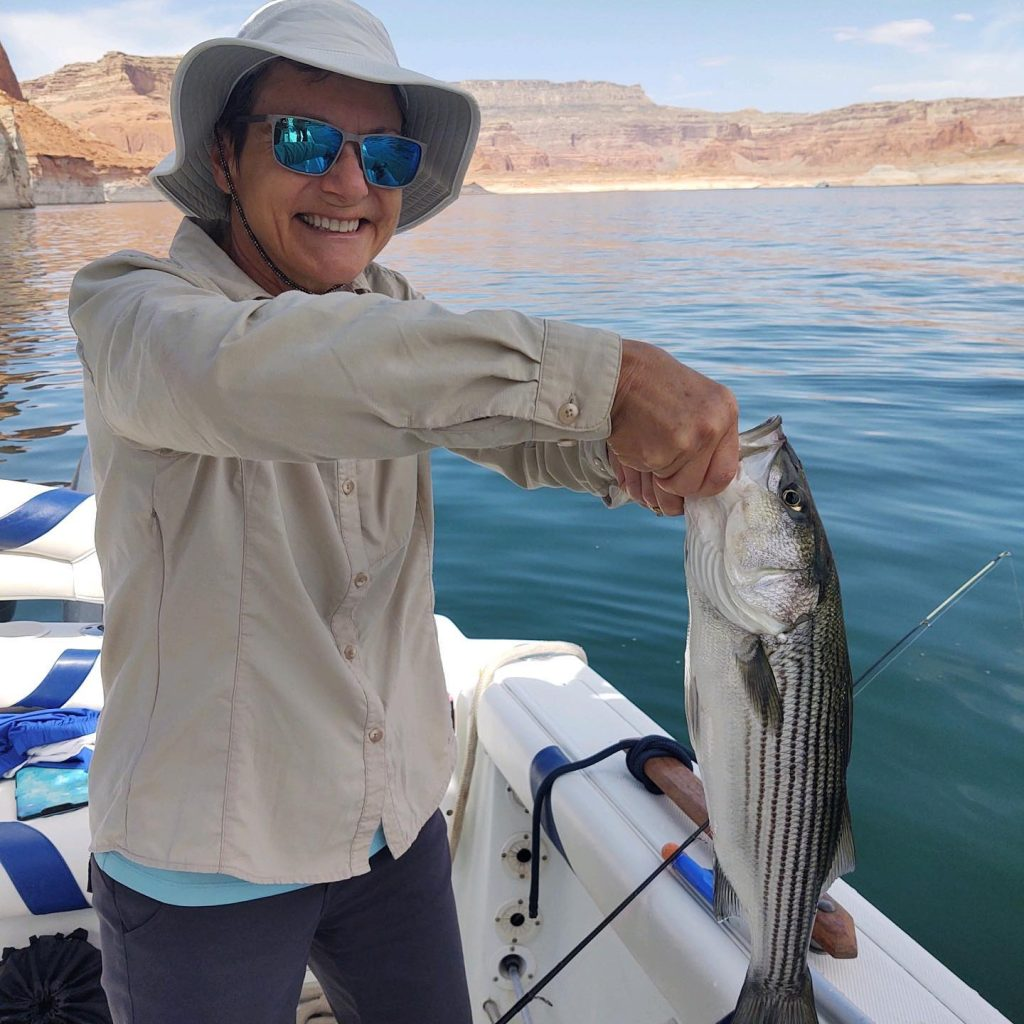 My TX angler Catherine on her Lake Powell Experience Trip!  Thanks for coming